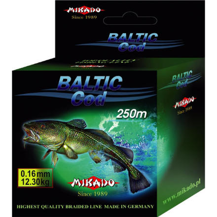Плетеный шнур Mikado BALTIC COD 0,24 green (250 м) - 19.30 кг.