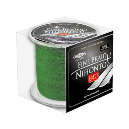 Плетеный шнур Mikado NIHONTO FINE BRAID 0,16 green (300 м) - 12.50 кг.
